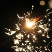Wunderkerze Neujahr