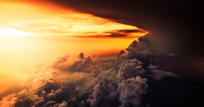 Himmel ABendstimmung Licht Dunkelheit