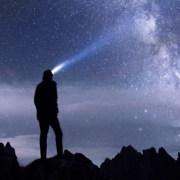 Sterne Dunkelheit Mensch leuchten
